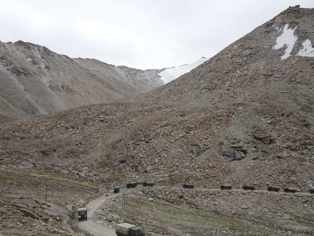 Army convoys in Leh Ladakh