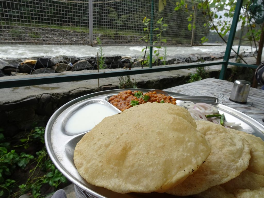 Breakfast at Beas river