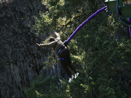 Bungee jumping in Whistler, Canada
