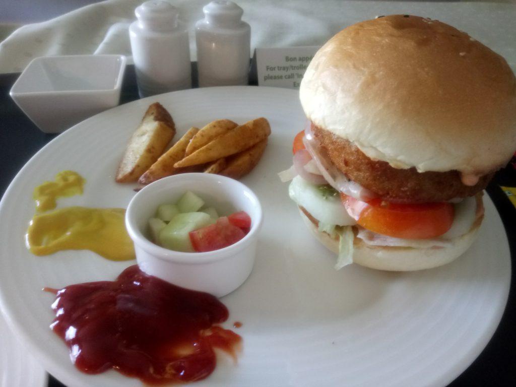 Burger at Holiday Inn, Delhi