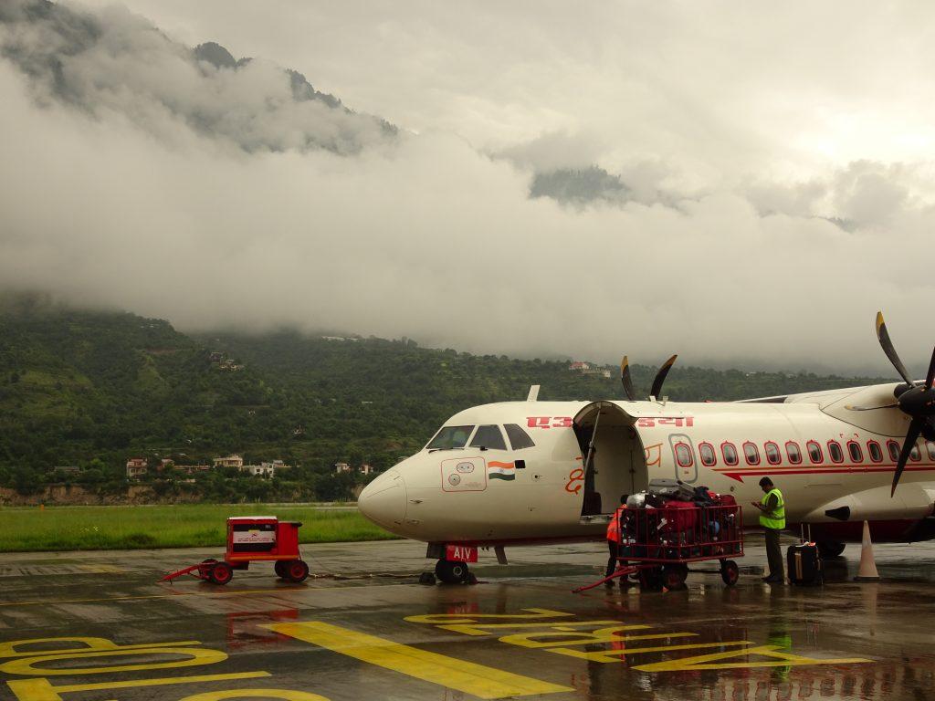 Flight from Kullu to Delhi