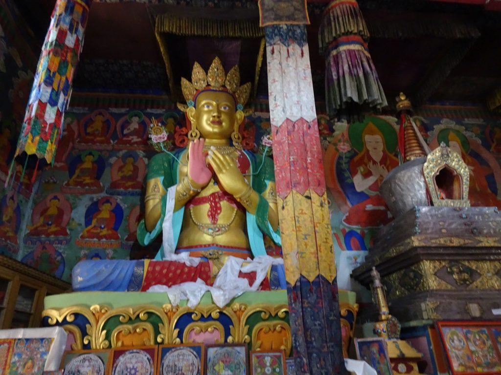 Inside Samstanling Monastery