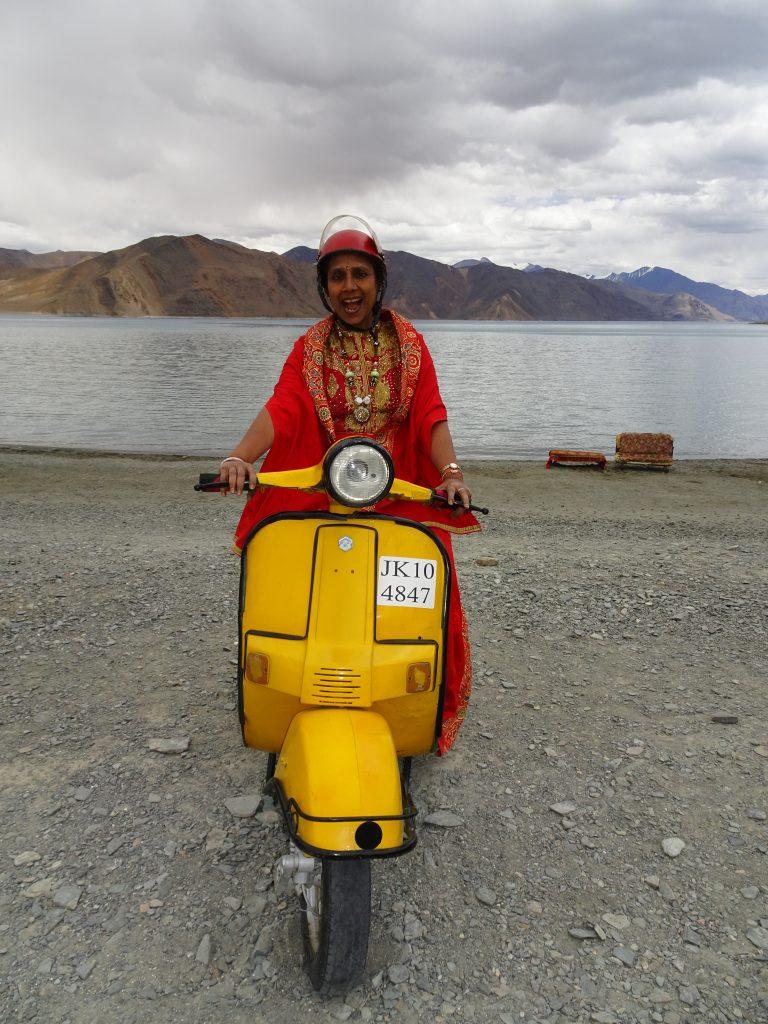 Kareena's Scooter at Pangong