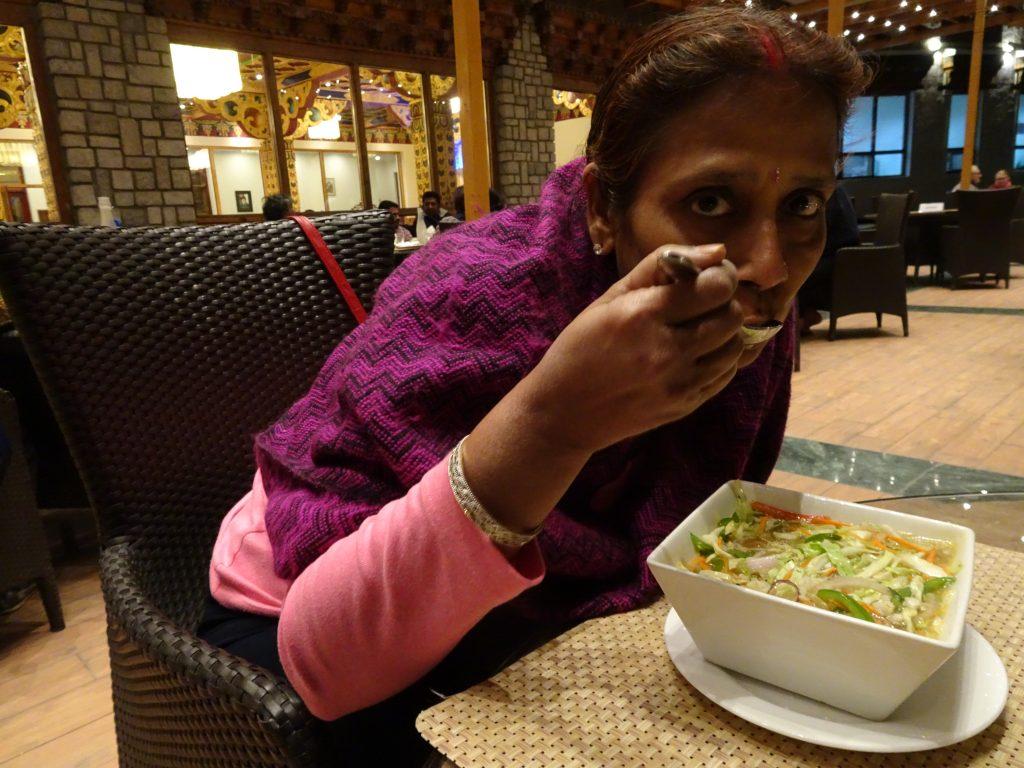 Thukpa at our hotel - Leh