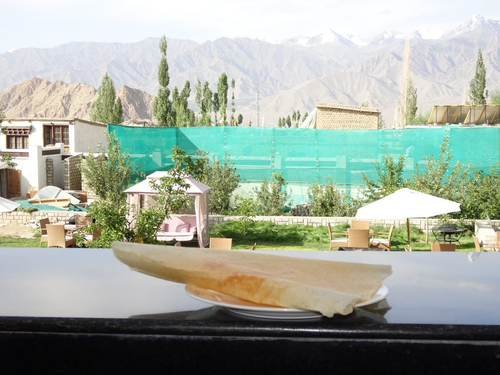 Dosa with a view in Leh Ladakh