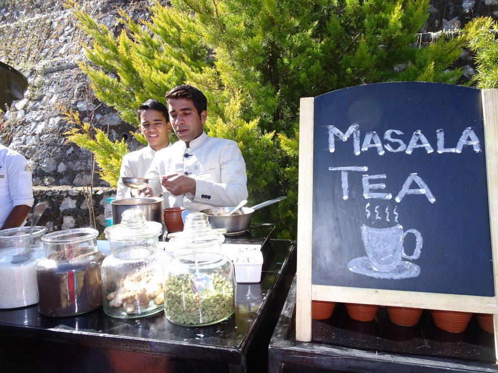 Afternoon tea at Marriott, Mussoorie