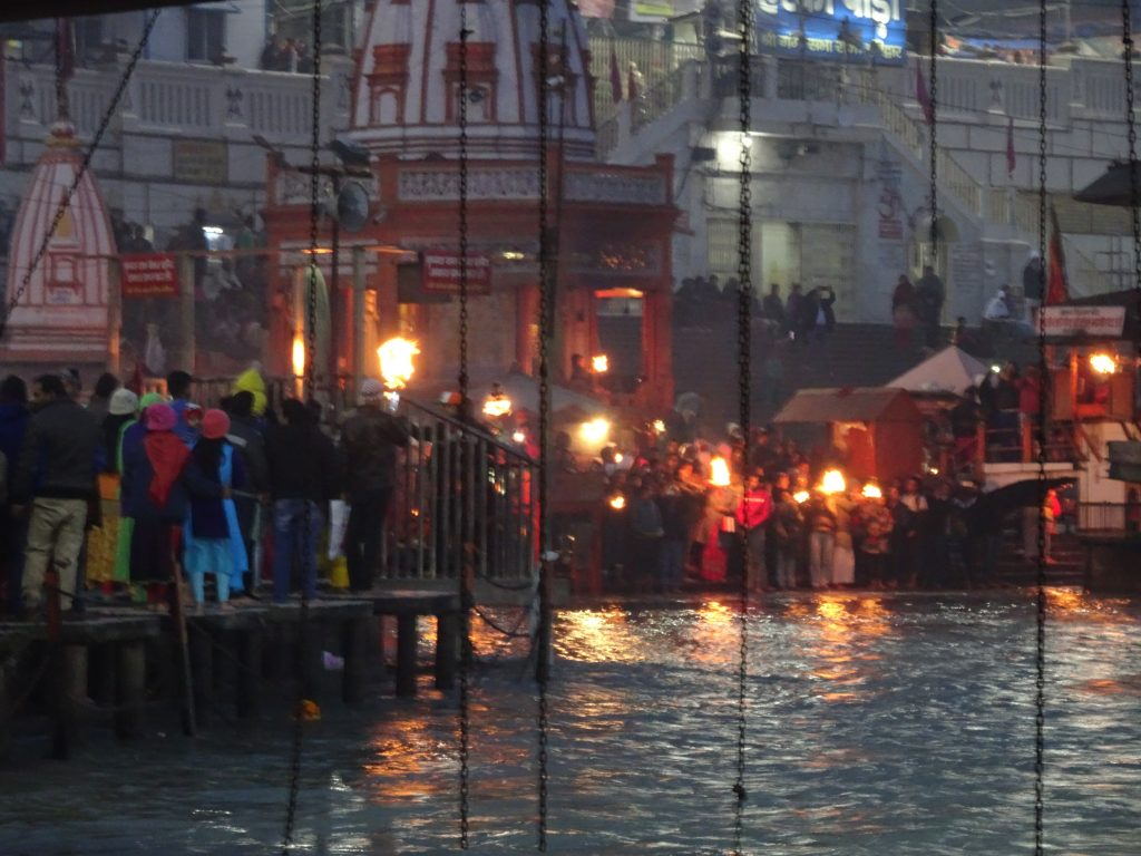 Ganga Aarti view from the other side