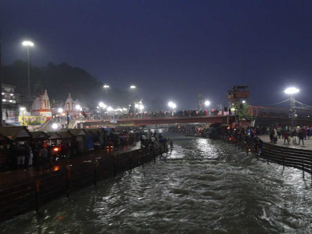 Ganga at night - Uttarakhand itinerary