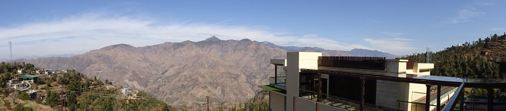 Panoramic view from Marriott Mussoorie