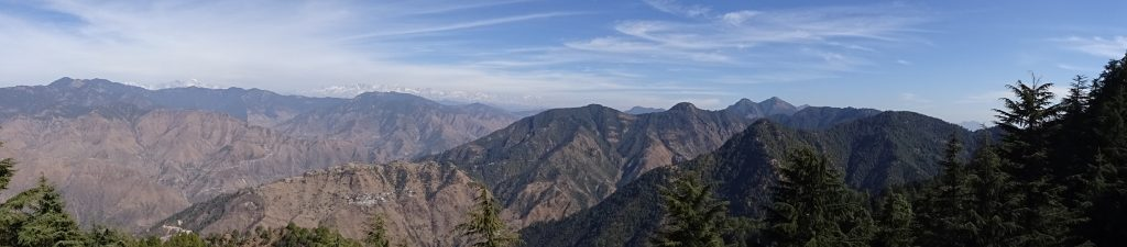 Panoramic view of Mussoorie -  Dehradun, Rishikesh, Haridwar and Mussoorie