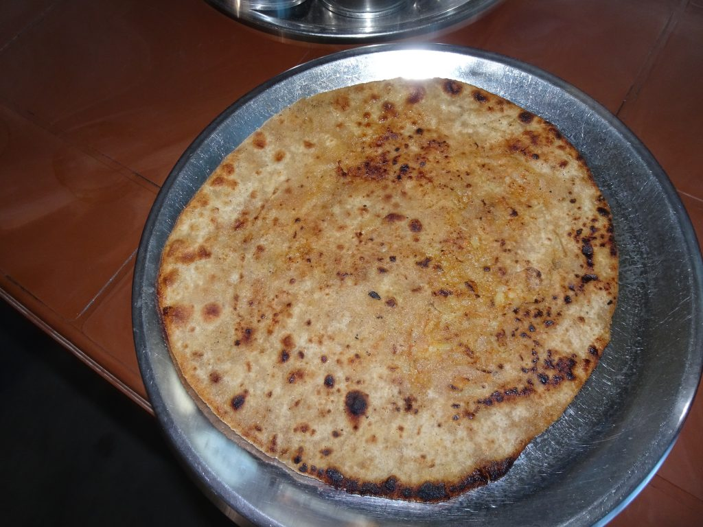 Paratha at Leh Manali Highway - Vegetarian Food in Leh Ladakh