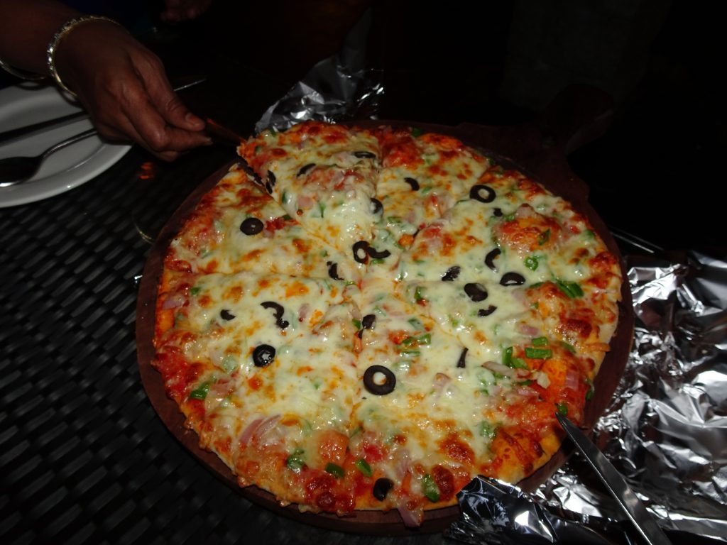 Pizza at Larisa Hotel