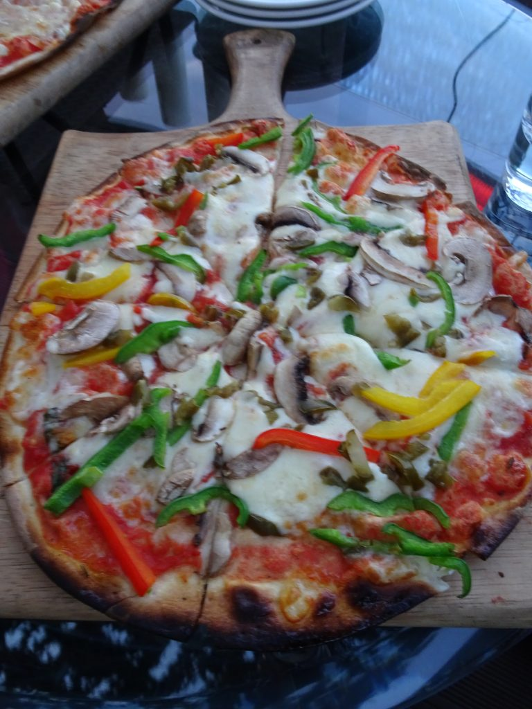 Pizza at Wisteria Deck, Mussoorie