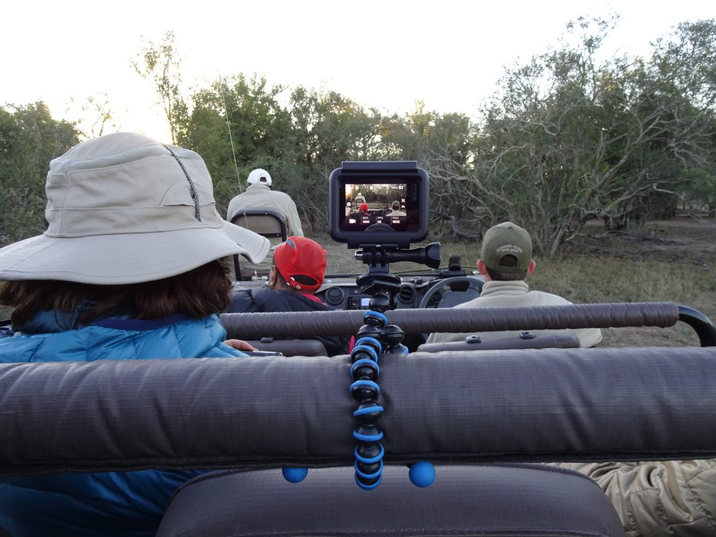 Go Pro on game drive