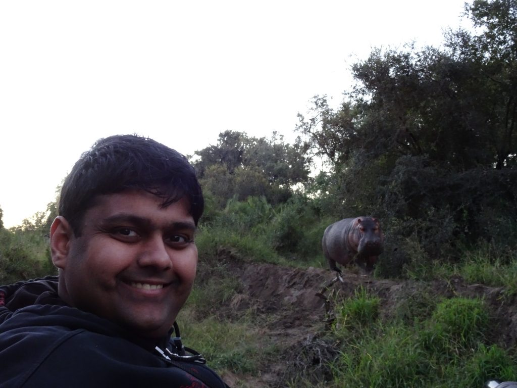Selfie with Hippo