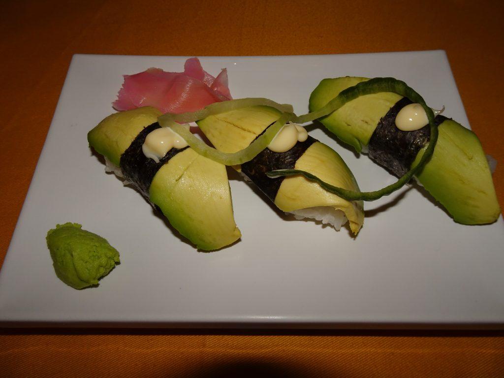 Sushi at Kuka Cafe