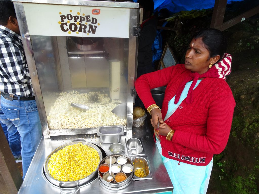 Corn and Popcorn in Ooty