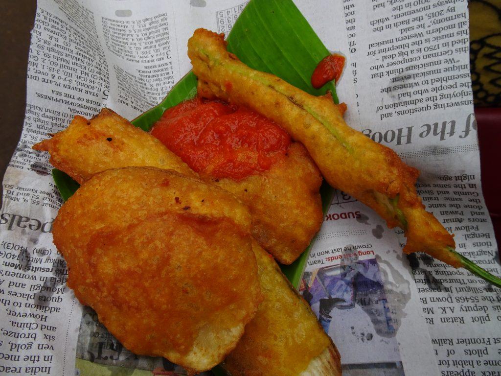 Hot pakodas in Ooty