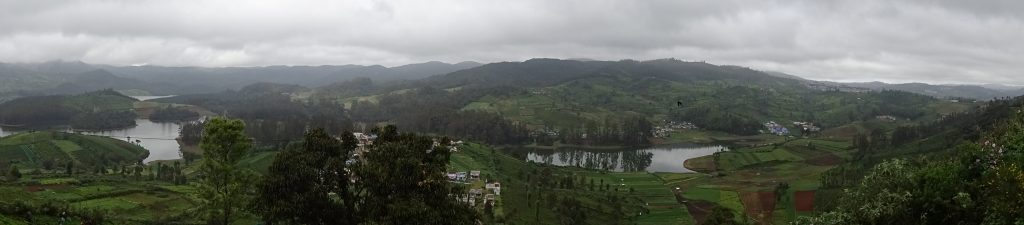Panorama View of Ooty