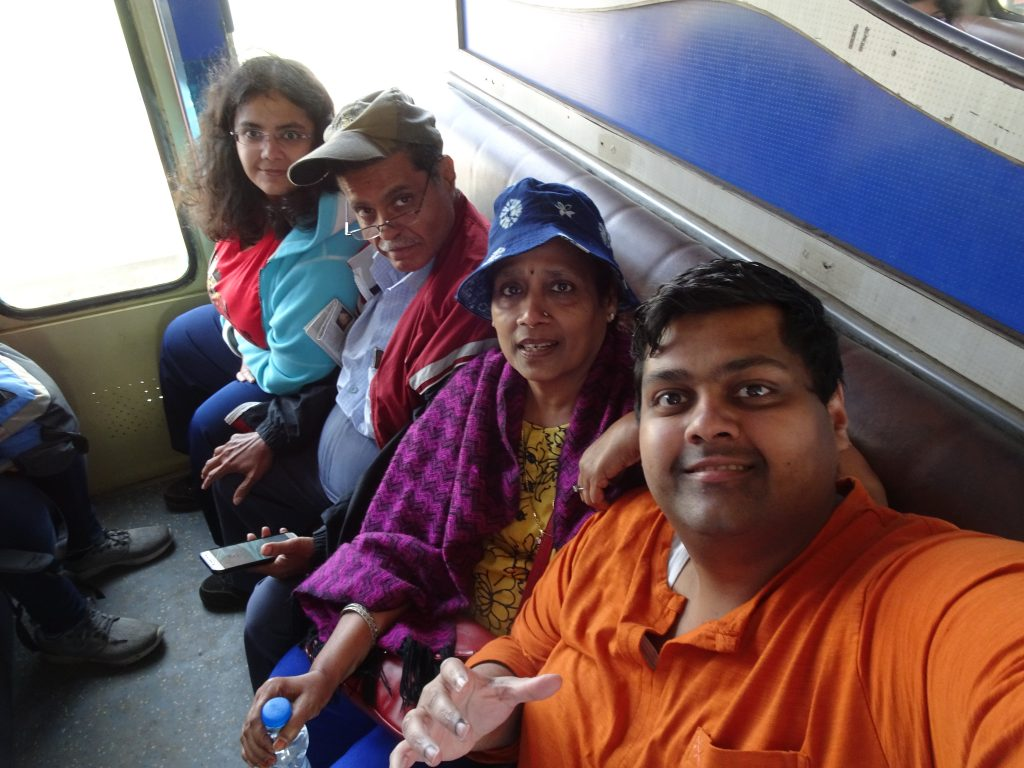 Sitting in Toy Train in Ooty