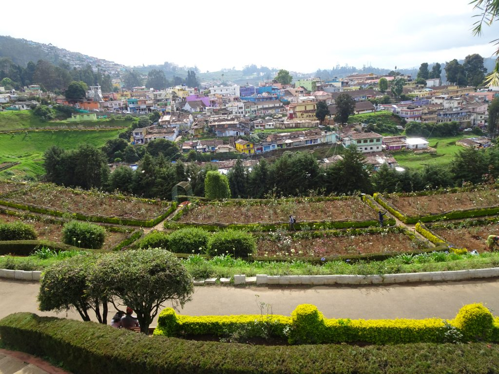 View from Rose Garden in Ooty