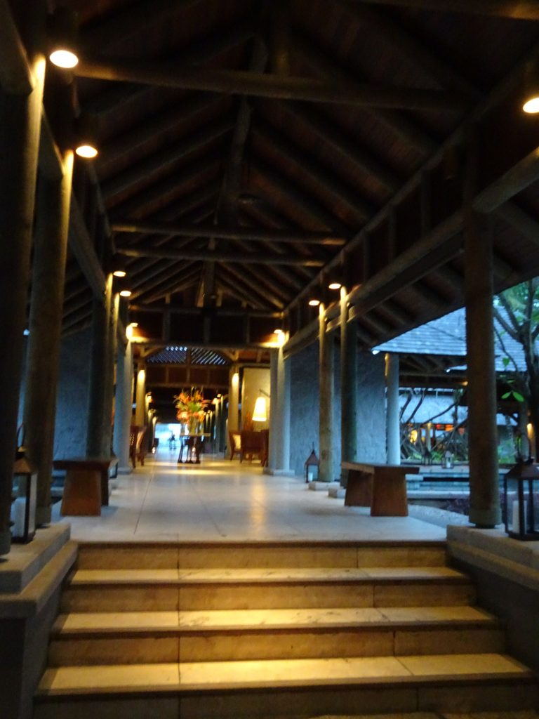 Entrance to Constance Ephelia in Mahe, Seychelles