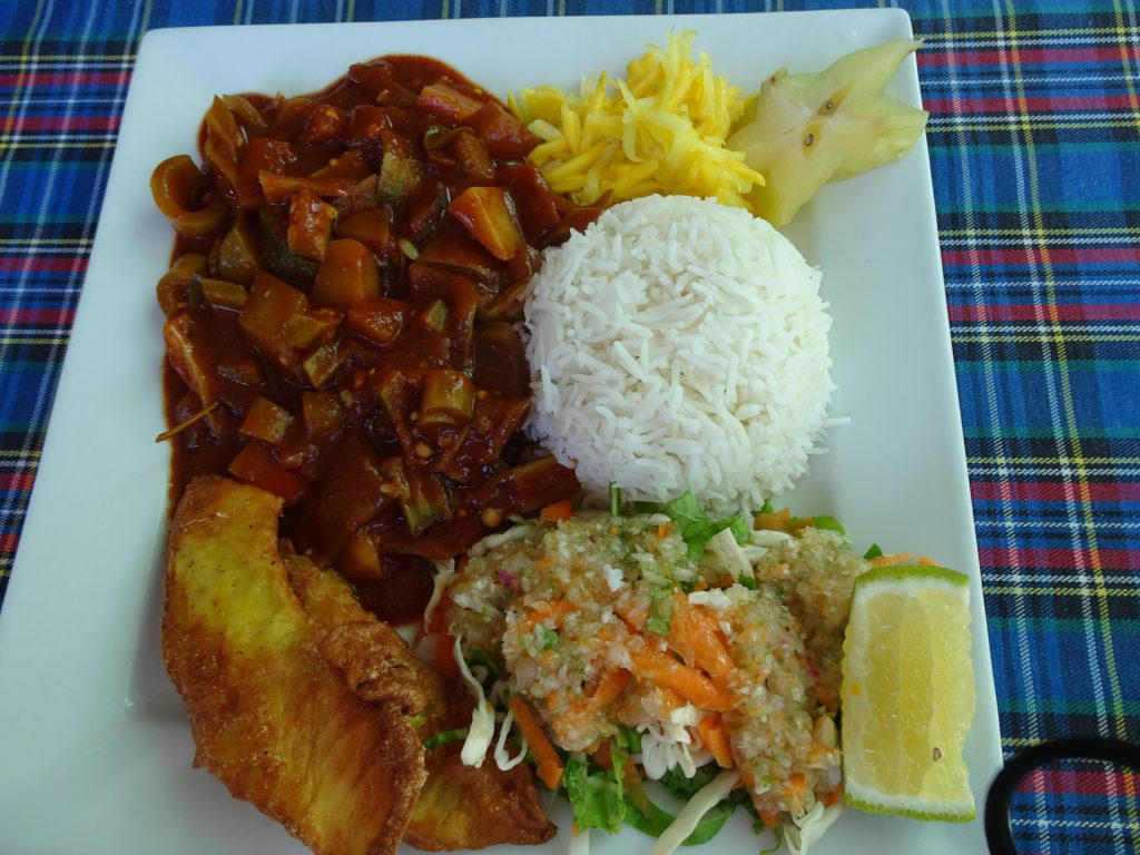 Lunch at Anse Source D' argent