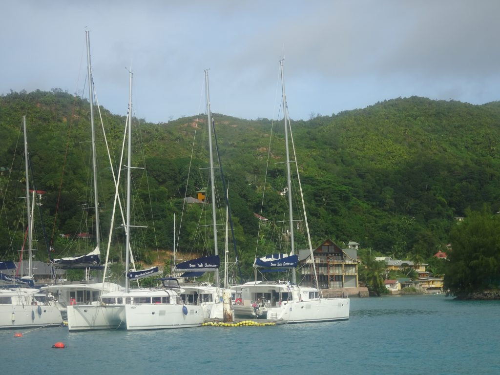View from the boat in Seychelles