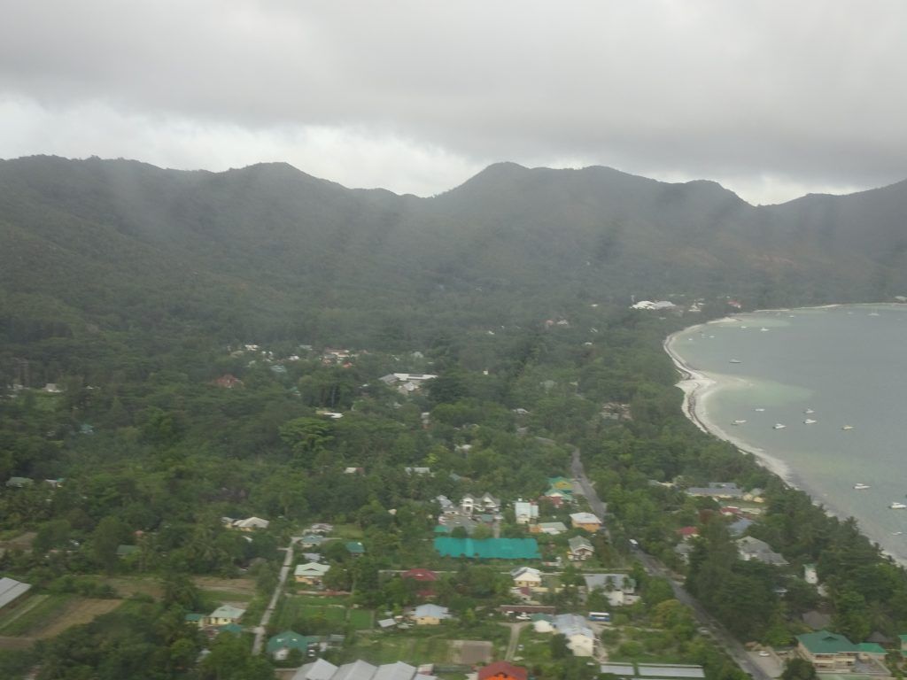 View from the flight in Seychelles