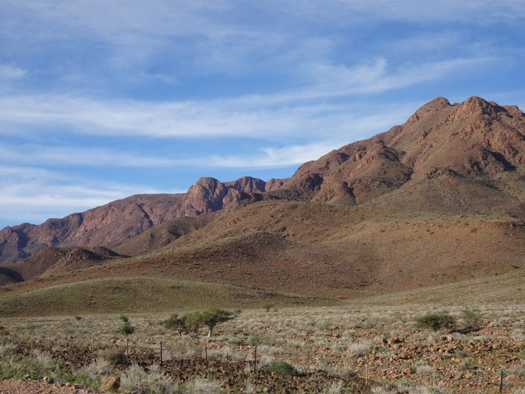 Beautiful mountains in Namibia