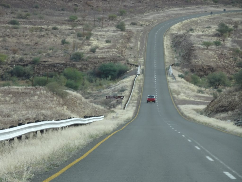 Deserted Namibian Roads
