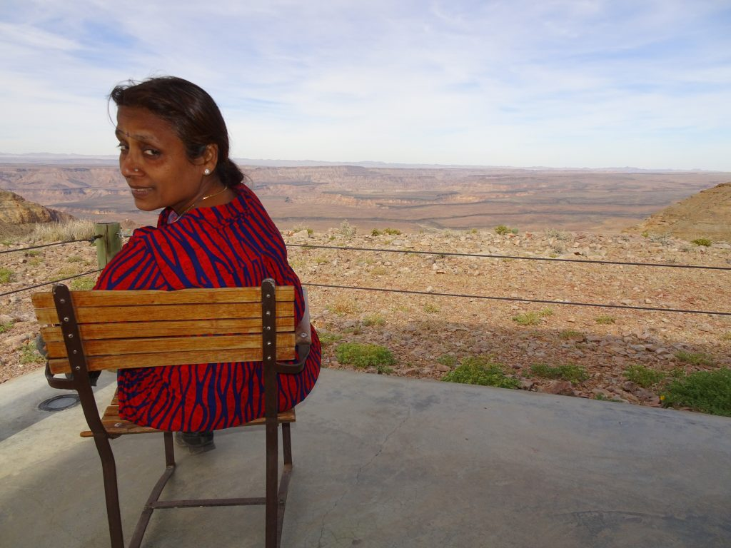 Patio overlooking the Fish River Canyon