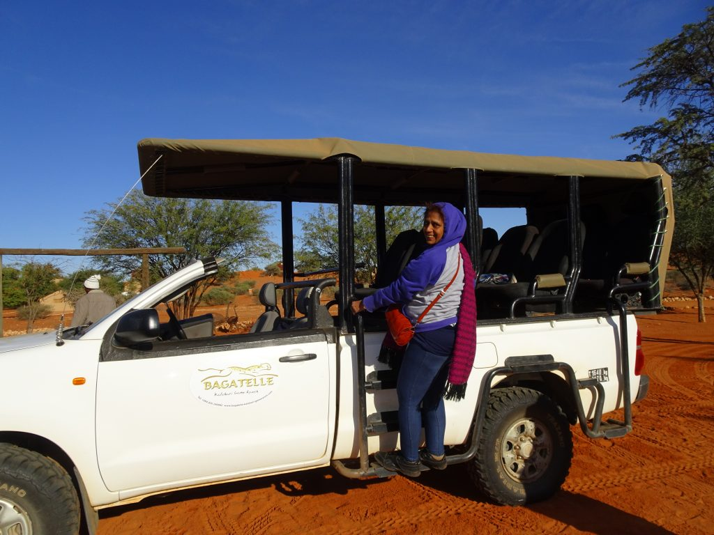 Safari Vehicle in Kalahari