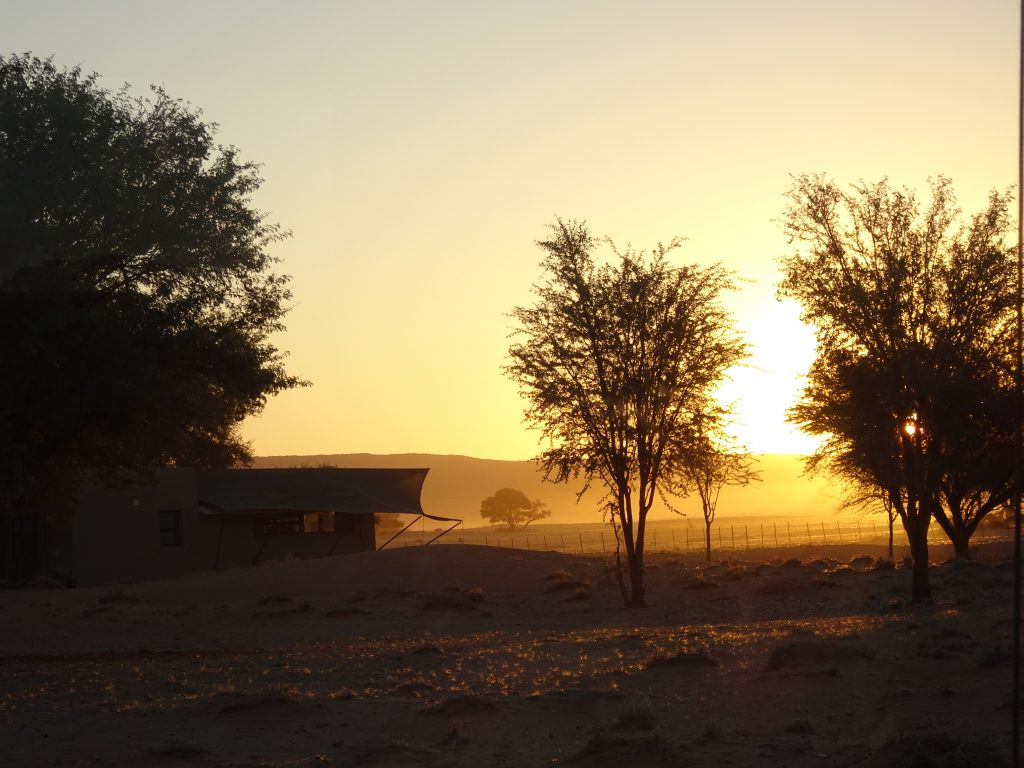 Sunset at Sossusvlei Lodge