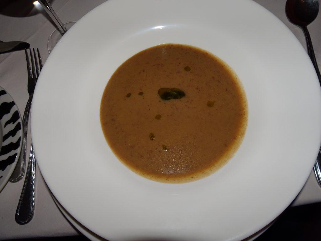 Veg Dinner at Bagatelle - Soup