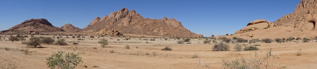 View from the hotel in Namibia