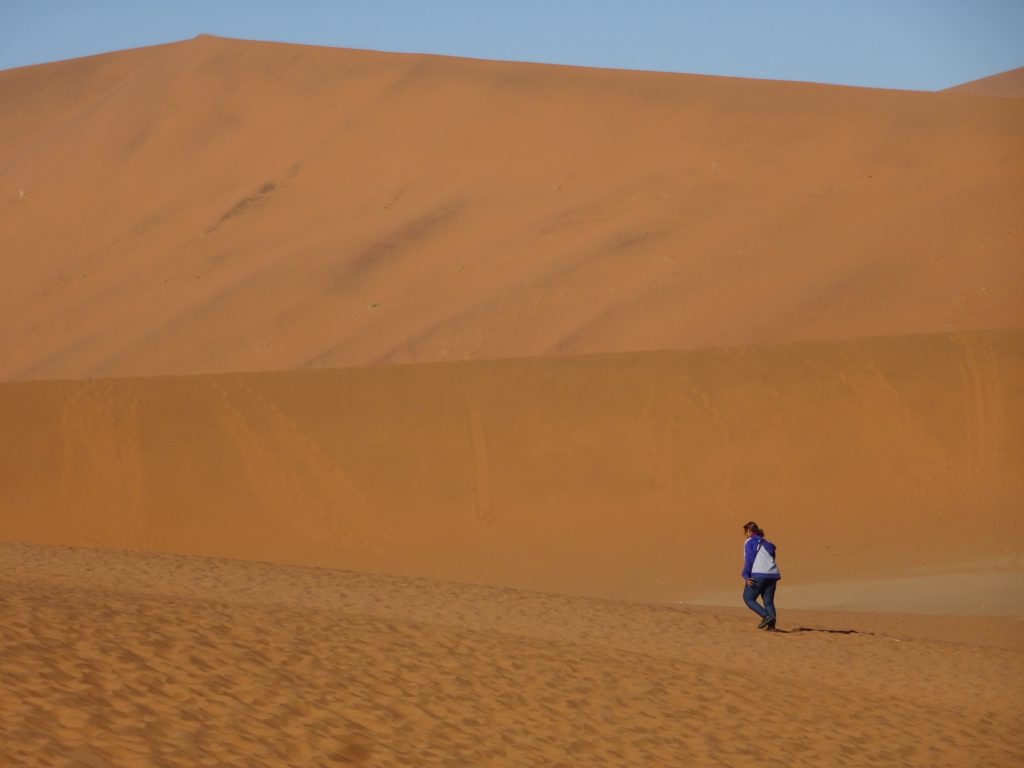 Walk to Deadvlei in Namibia