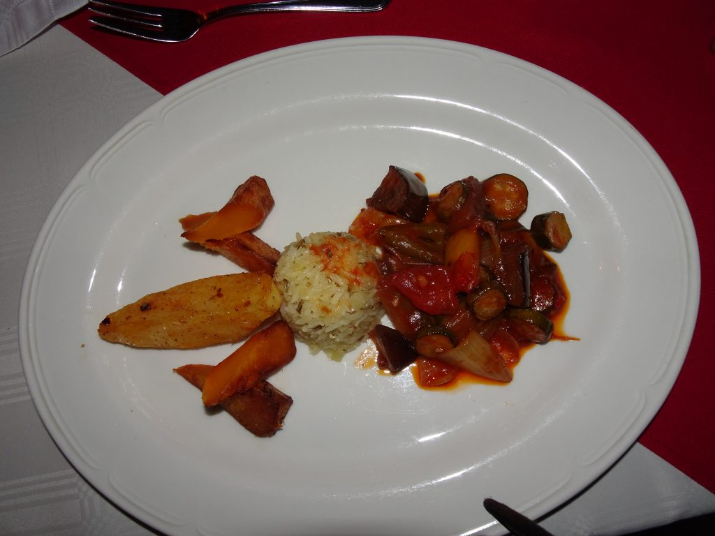 4th Course at Divava Lodge - Vegetarian Food in Namibia