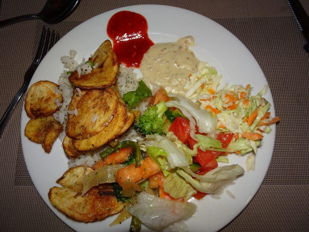 Buffet at Okaukuejo Rest Camp - Vegetarian Food in Namibia