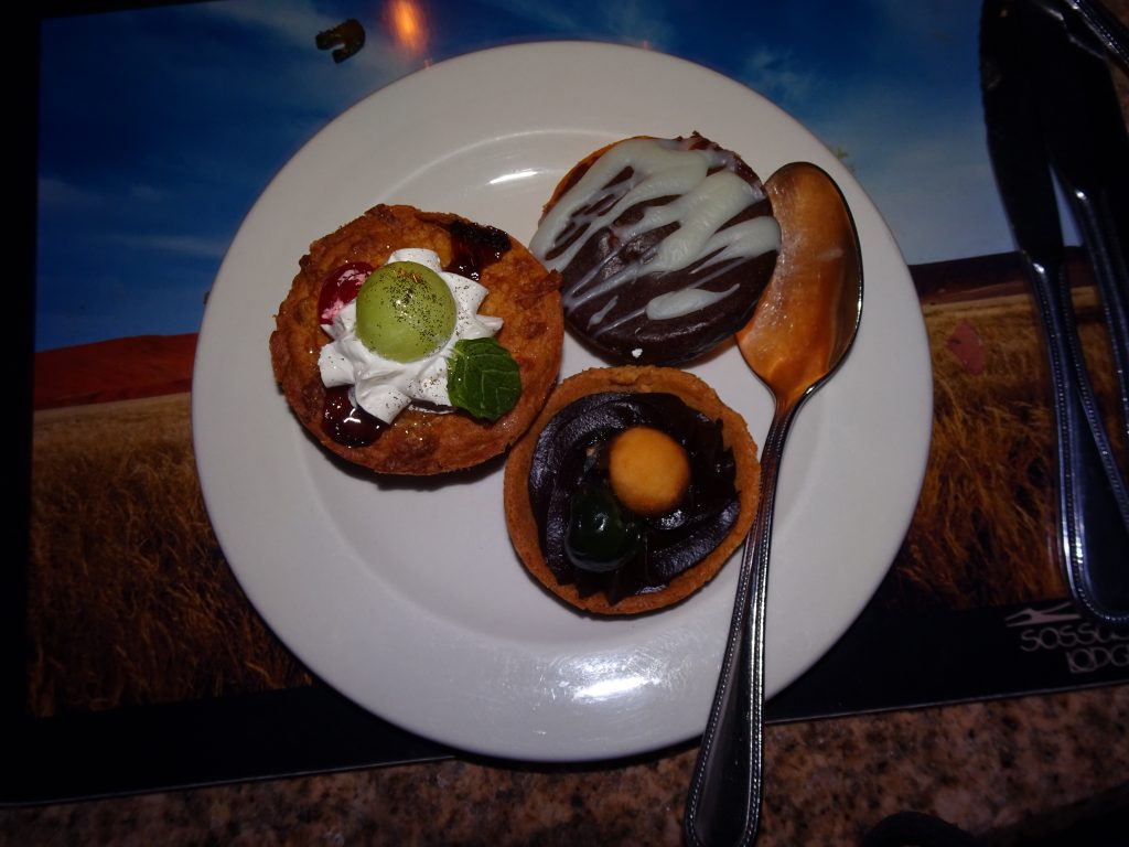 Desserts at Sossusvlei Lodge
