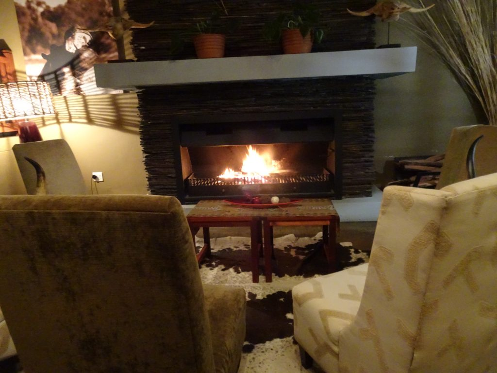 Fire Place at Divava Okavango Lodge