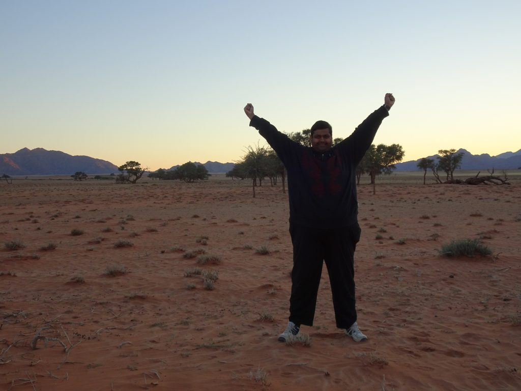 Outside the room at Sossusvlei Lodge