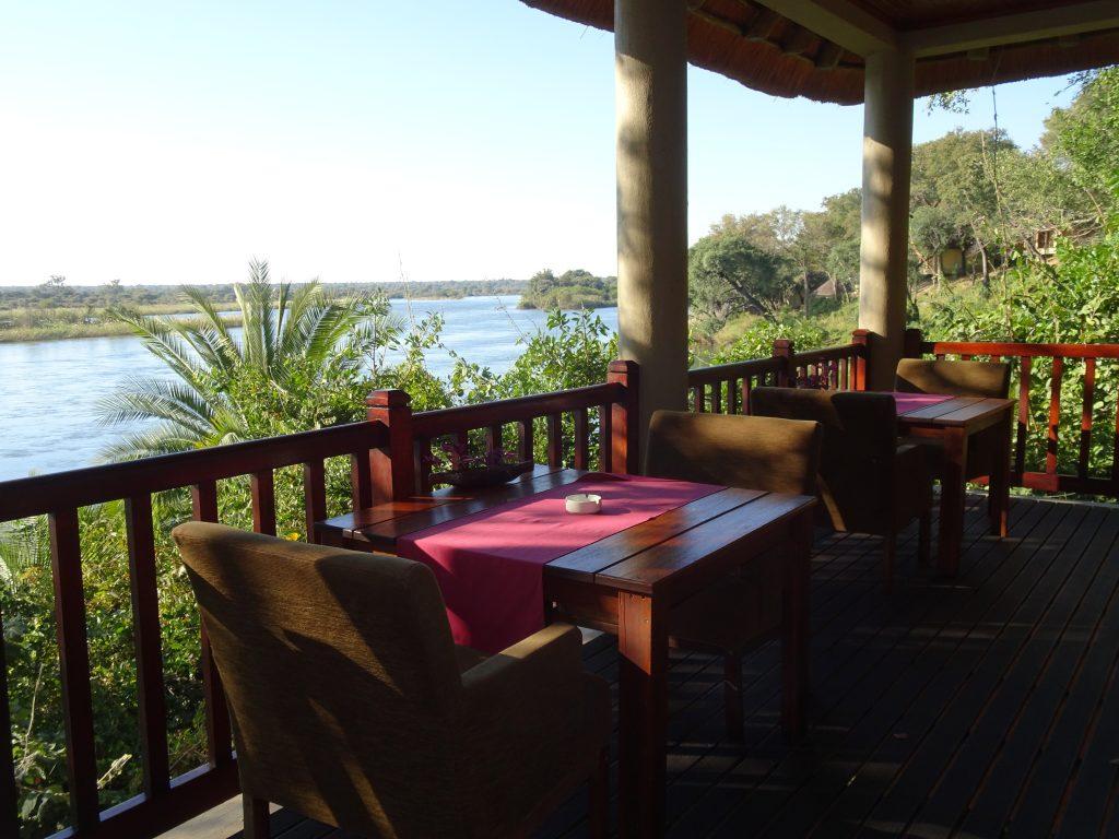 Restaurant with a view at Divava Okavango Lodge