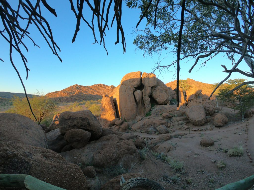 Room with a view at Mowani Mountain Camp