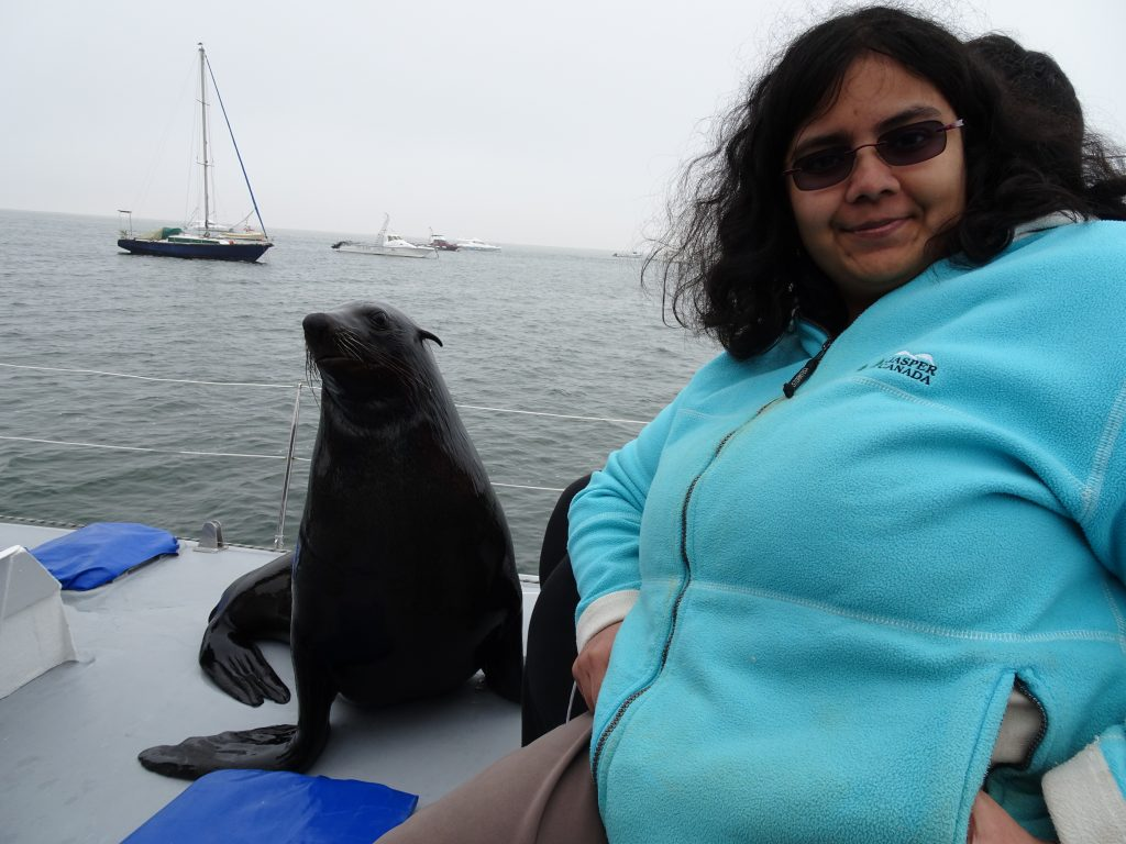 Selfie with seals on Sandwich Tour