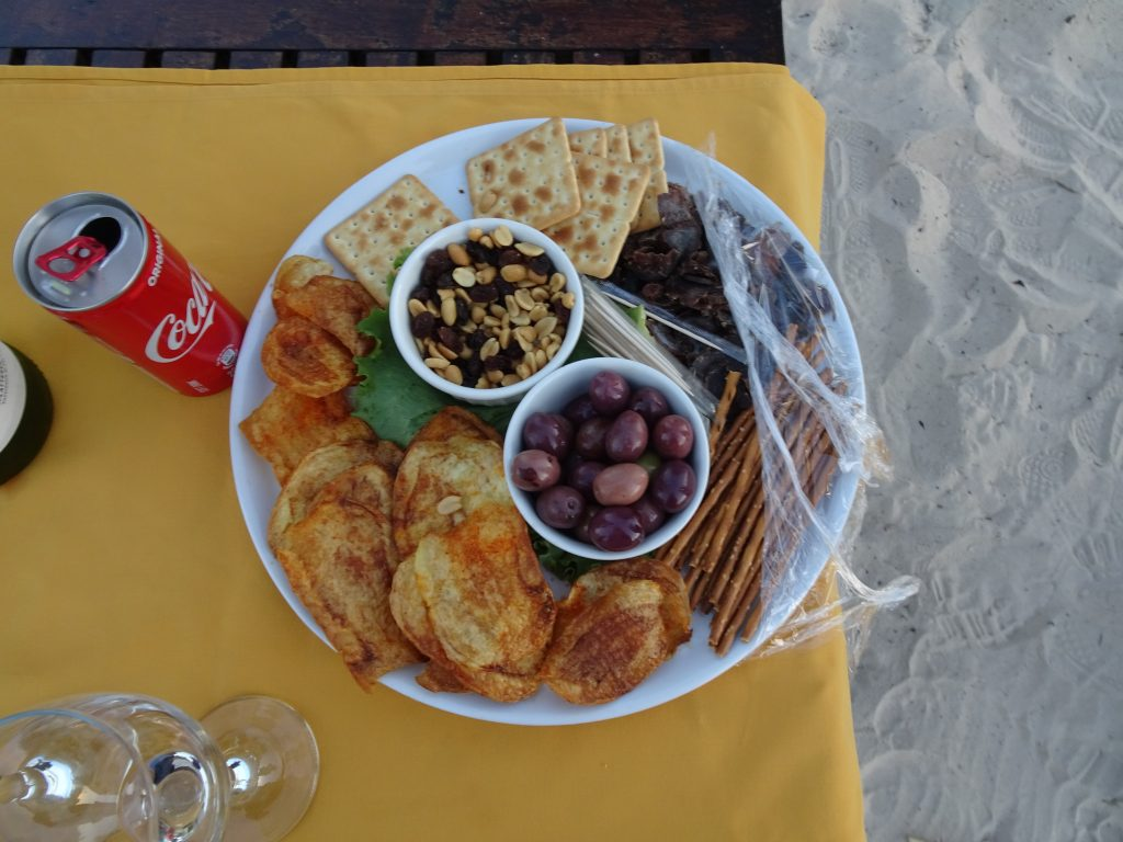Snack Platter at sunset cruise at Divava - 2 weeks in Namibia