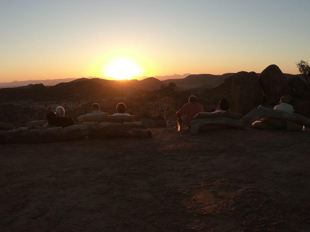 Sunset at Mowani Mountain Camp