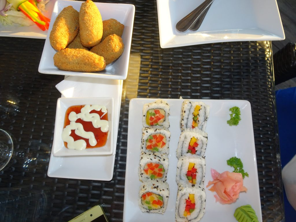 Sushi at Jetty 1905 - Vegetarian Food in Namibia