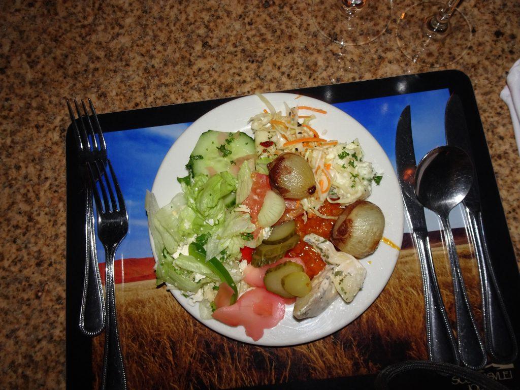 Vegetarian food in Namibia at Sossusvlei Lodge