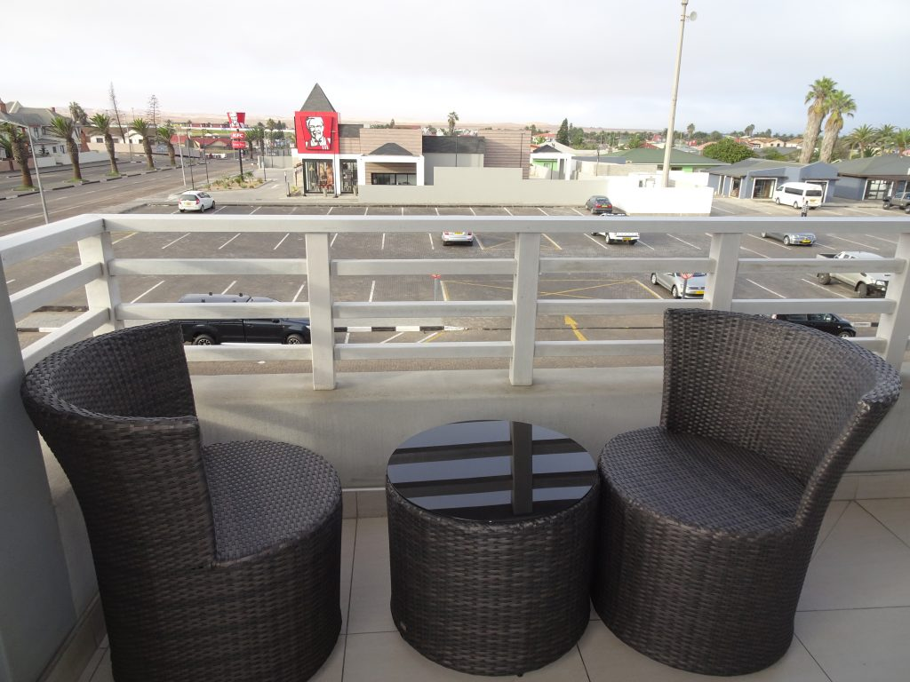 View from the Room at Aha Swakopmund Plaza Hotel